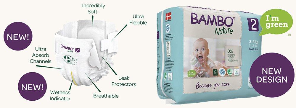 Modernizované ekologické detské plienky BAMBO