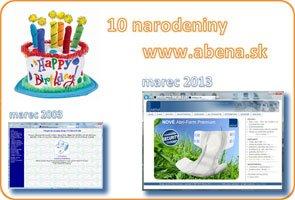 10. narodeniny www.abena.sk