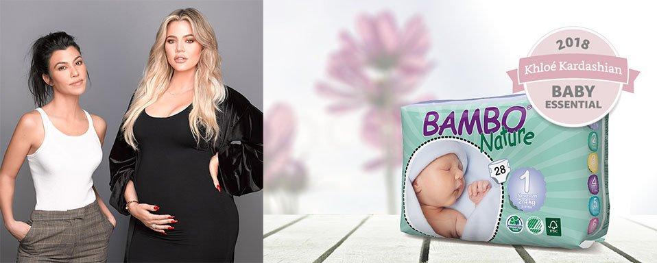 Khloé Kardashian práve pridala naše ekologické plienky Bambo do svojho Amazon Baby zoznamu!