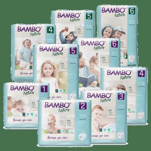 Plienky Bambo - balenie. B53155, B21360, B21361, B72668, B72669