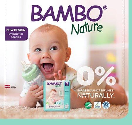 Ekologické detské plienky BAMBO Nature