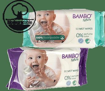 Vlhčené utierky Bambo