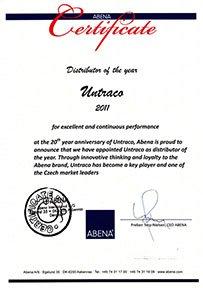 Abena - Untraco certificate 2011