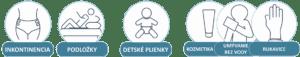 ABENA Sortiment: Inkontinencia, Podložky, Detské plienky, Kozmetika, Umývanie bez vody, Rukavice